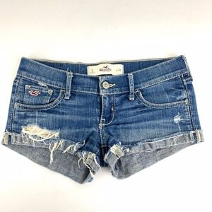 Hollister Jean Shorts Bootie Cut Off Rolled Shorts